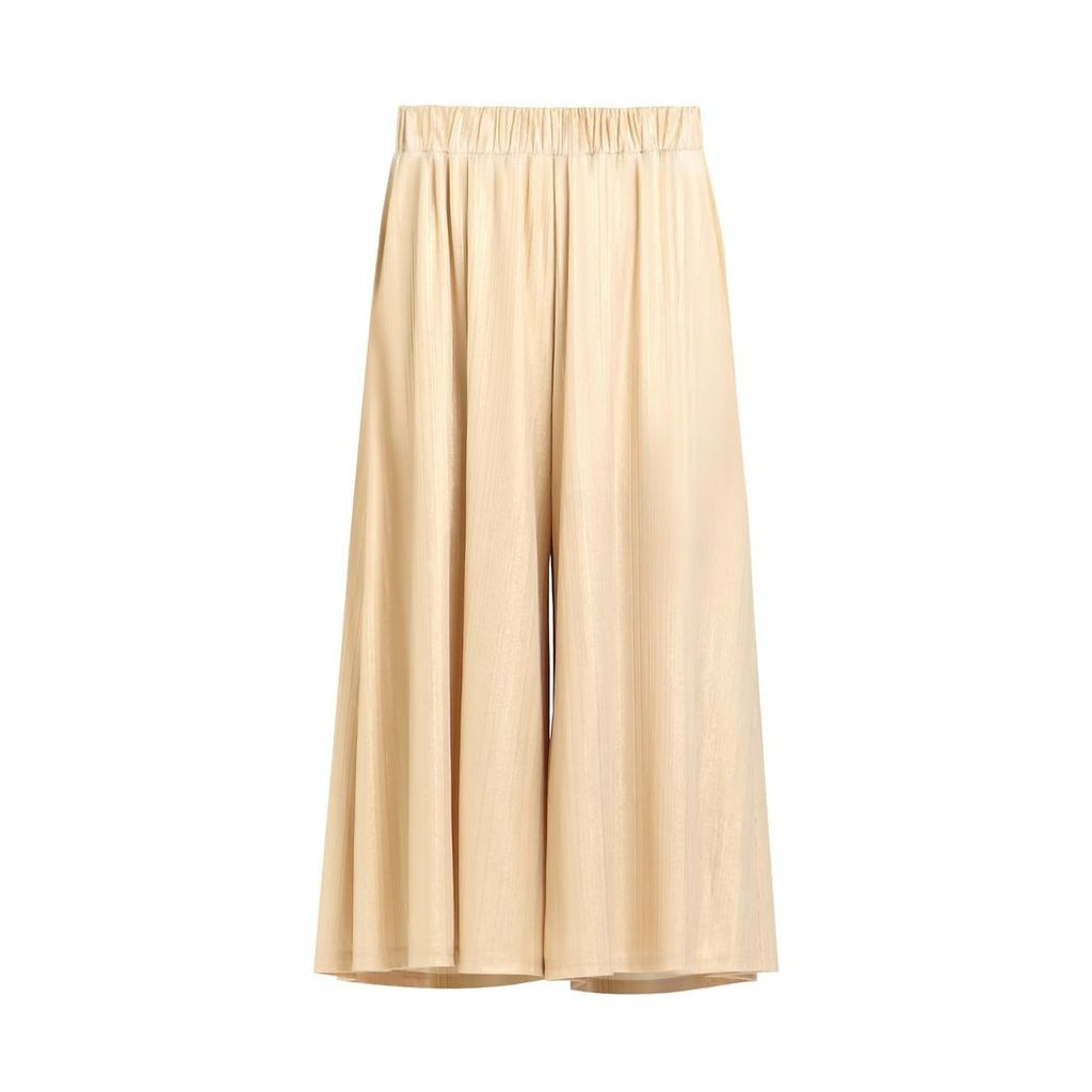 PAISIE - Metallic Culottes With Elasticated Waist