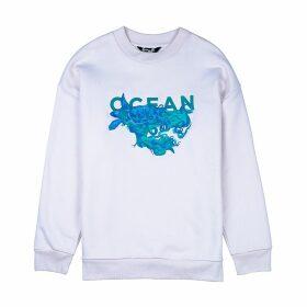 Gung Ho - Ocean Embroidered Sweatshirt