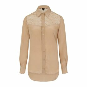 Sophie Cameron Davies - Beige Classic Silk Shirt