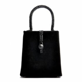 MUZA - Off The Shoulders Silk Blouse With Lace