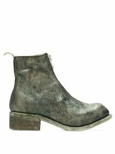 Guidi front-zip ankle boots - Green