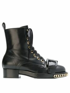Nº21 chain trimmed boots - Black