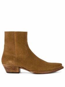 Saint Laurent Lukas 40 boots - Brown