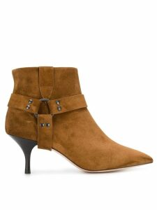Morobé strap detail ankle boots - Brown