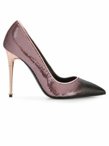 Tom Ford sequinned contrast toe pumps - Pink