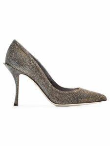 Dolce & Gabbana metallic Lori 90 glitter lurex pumps
