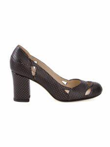 Sarah Chofakian chunky heel pumps - Black