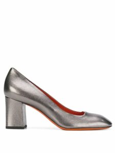 Santoni squared toe pumps - Metallic