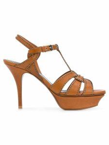 Saint Laurent Tribute 75 sandals - Brown