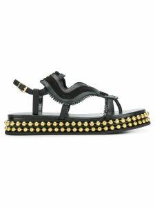 Chloé almond toe studded sole sandals - Black