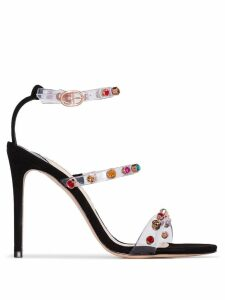 Sophia Webster Rosalind 100 gem PVC sandals - Black