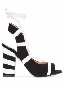 Boutique Moschino striped sandals - Black