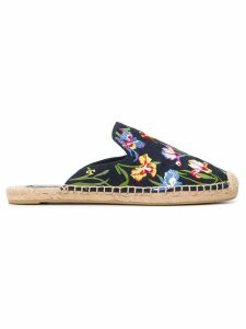 Tory Burch Max embroidered espadrille sandals - Black