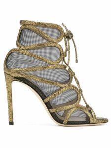 Jimmy Choo Malena 100 sandals - Metallic