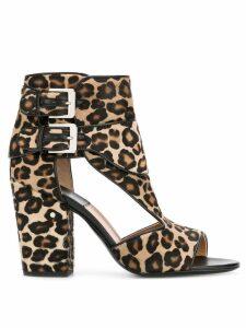 Laurence Dacade Rush leopard print sandals - Brown