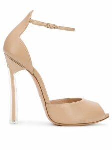 Casadei peep toe sandals - NEUTRALS