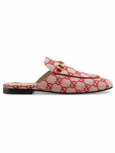 Gucci Princetown GG canvas slipper - NEUTRALS