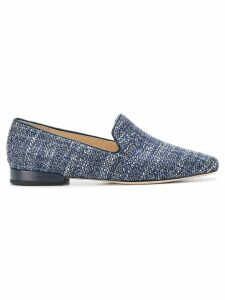 Jimmy Choo Jaida flat tweed slippers - Blue