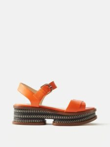 Giambattista Valli - Petal Print Ruffled Silk Georgette Blouse - Womens - Black Multi