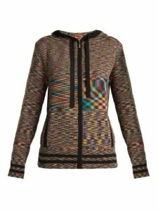 Missoni - Intarsia Knit Cashmere Hooded Cardigan - Womens - Black Multi