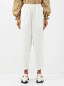 Giambattista Valli - Macramé Lace Tiered Silk Chiffon Dress - Womens - Burgundy