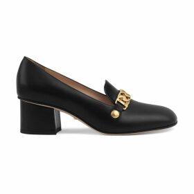 Sylvie leather mid-heel pump