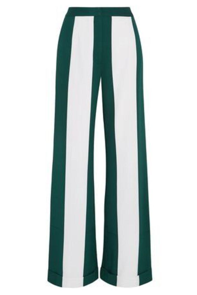 Monse Woman Striped Silk-blend Wide-leg Pants Forest Green Size 2