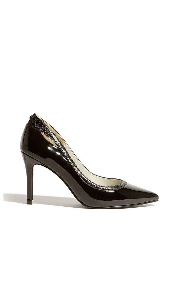 Karen Millen Cut-Out Court Shoes, Black