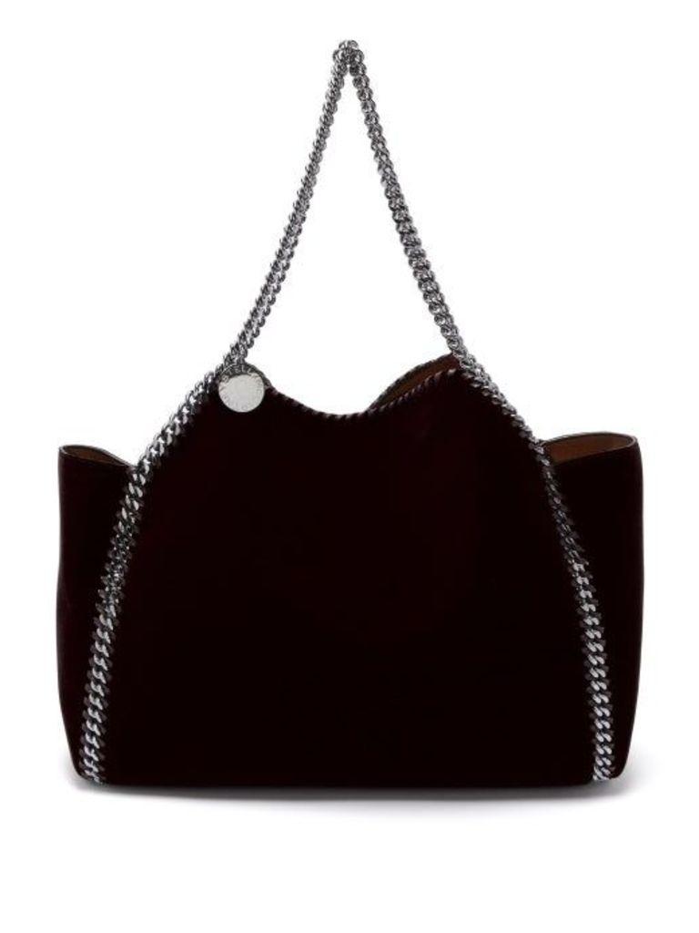 Falabella small reversible velvet tote bag