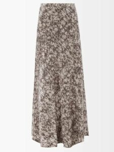 The Row - Sabrinah Oversized V-neck Wool Sweater - Womens - Light Blue