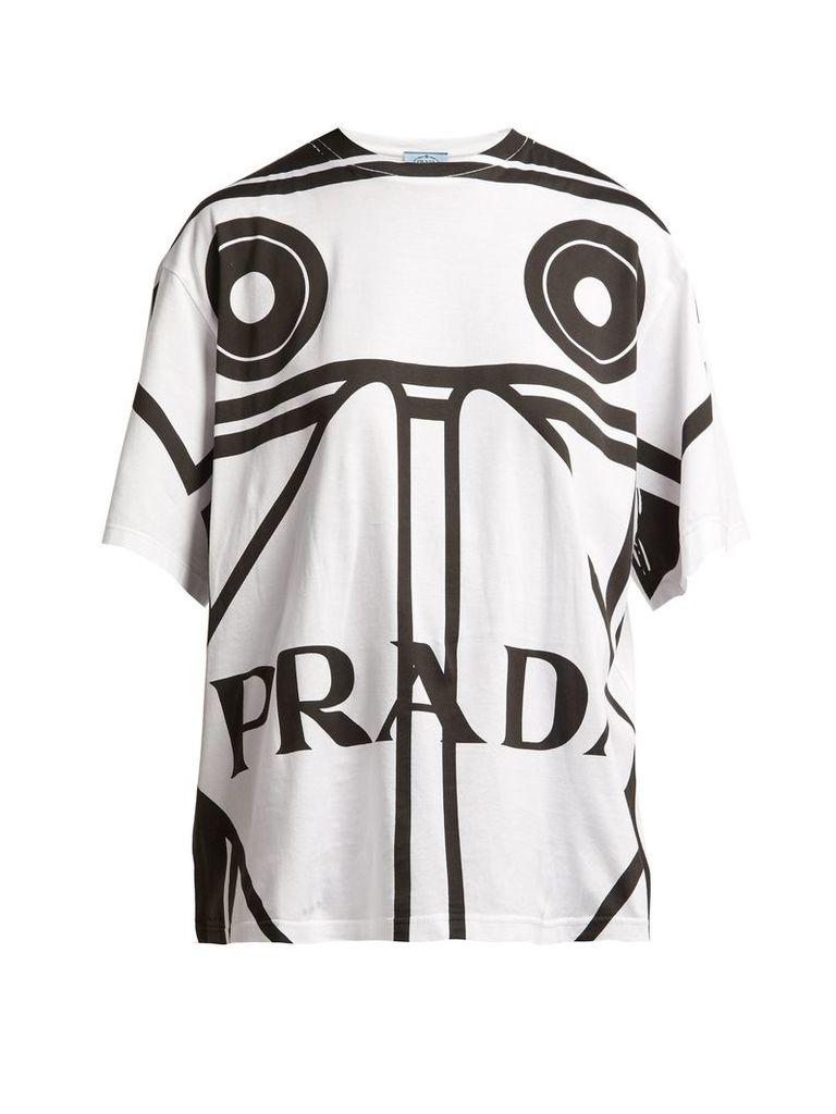 Round-neck Koolhaas-print T-shirt