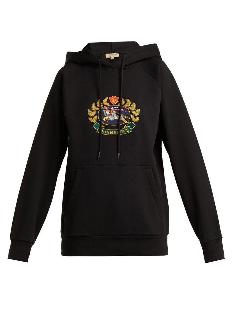 Archive logo-embroidered cotton-blend sweatshirt