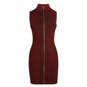 McQ Alexander McQueen Ribbed Striped Dress