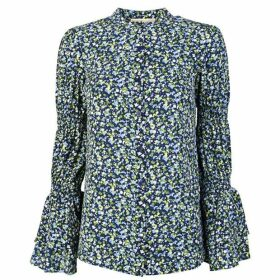 MICHAEL Michael Kors Floral Print Long Sleeved Blouse