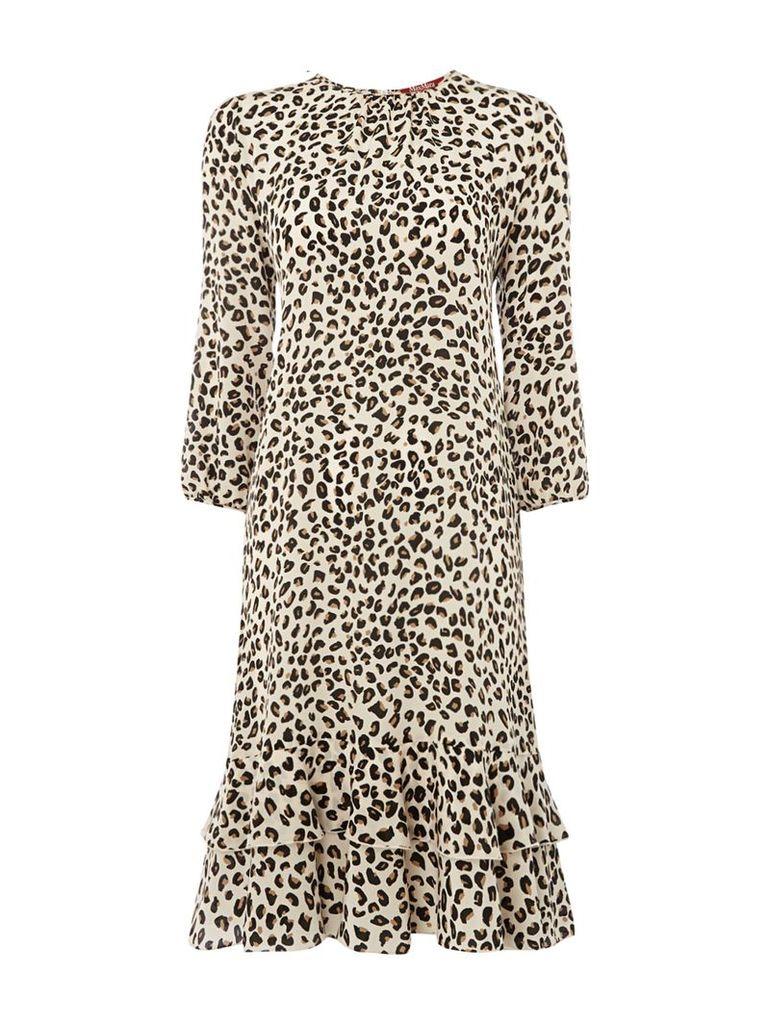 Max Mara Studio Dropped waist leopard print dress, Leopard