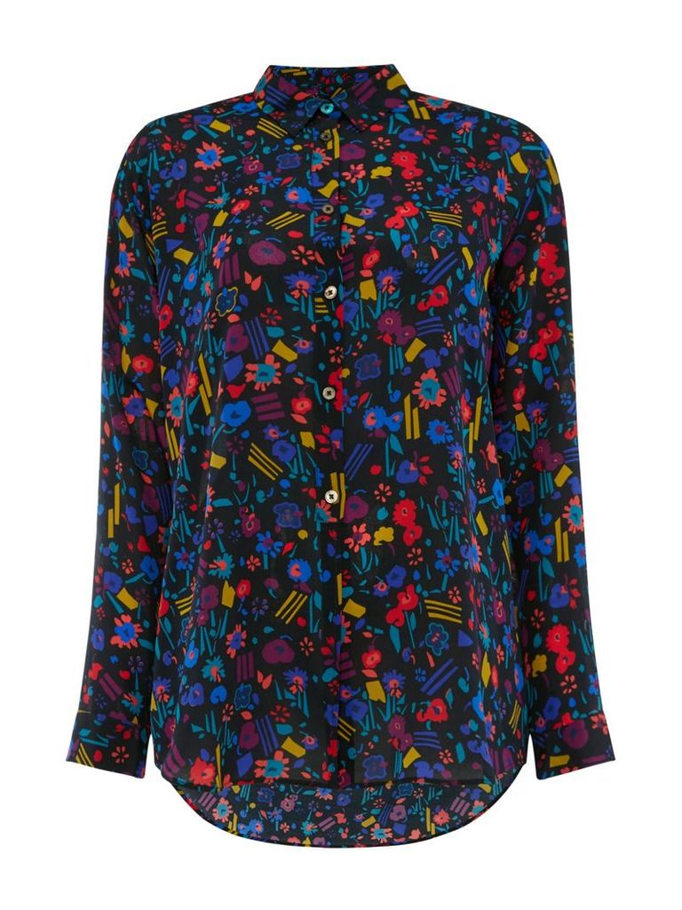 PS By Paul Smith Decoupage shirt, Multi-Coloured