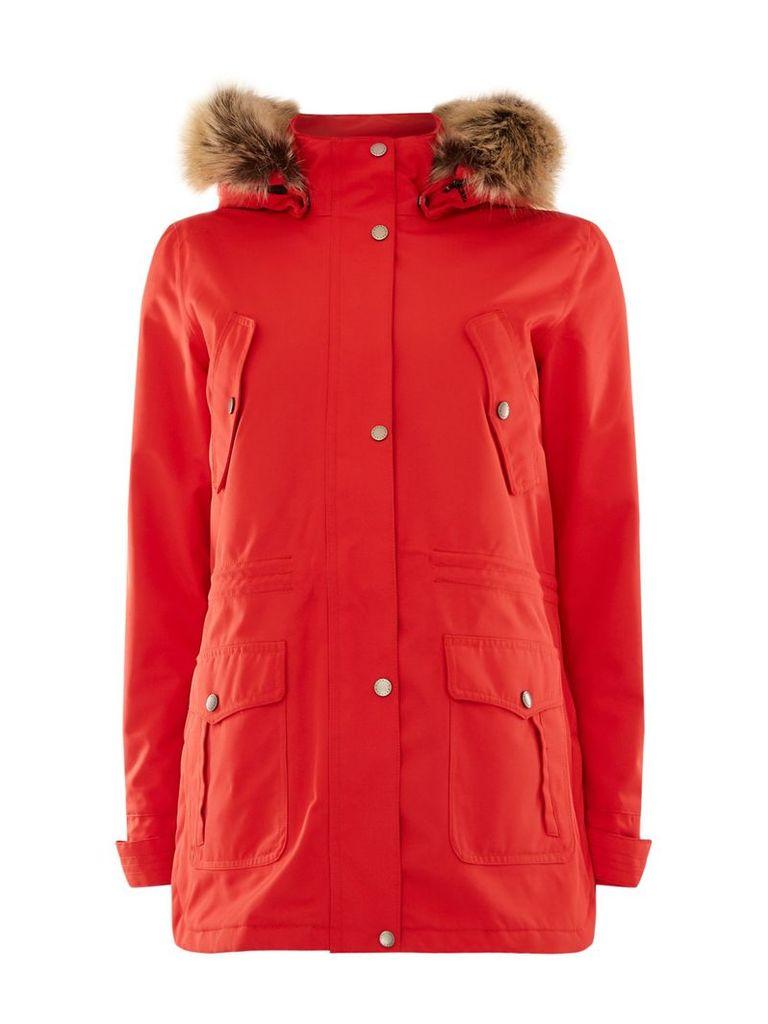 Barbour Stronsay Waterproof Coat, Red