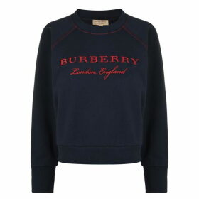Burberry Crew Neck Logo Sweatshirt
