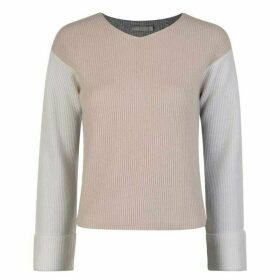 Vince Cashmere Colour Block Knitted Jumper