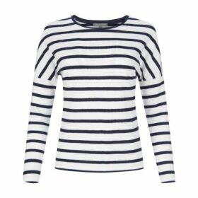 Drop Shoulder Retro Stripe Jersey Top