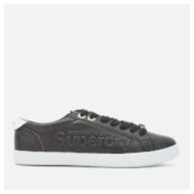 Superdry Women's Super Sleek Logo Lo Trainers - Black - UK 4 - Black