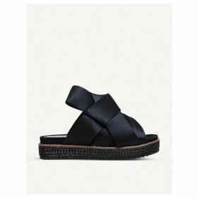 Kurt Geiger London Bloom satin bow sandals, Women's, Size: EUR 36 / 3 UK WOMEN, Black