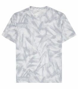 Reiss Bruno - Printed T-shirt in LIGHT GREY, Mens, Size XXL