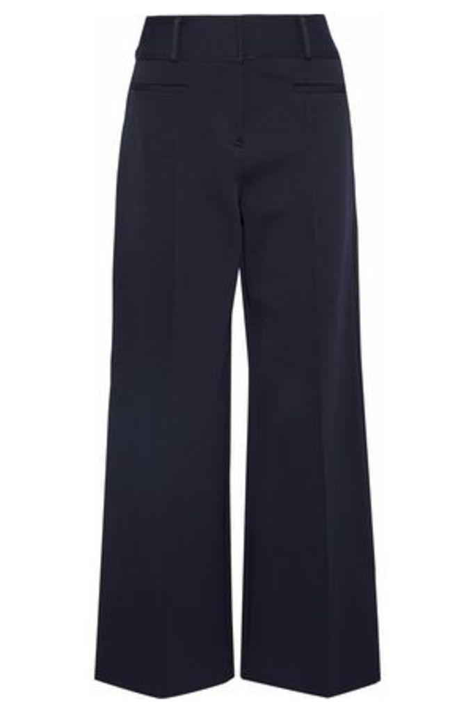 Diane Von Furstenberg Woman Cady Wide-leg Pants Midnight Blue Size 12
