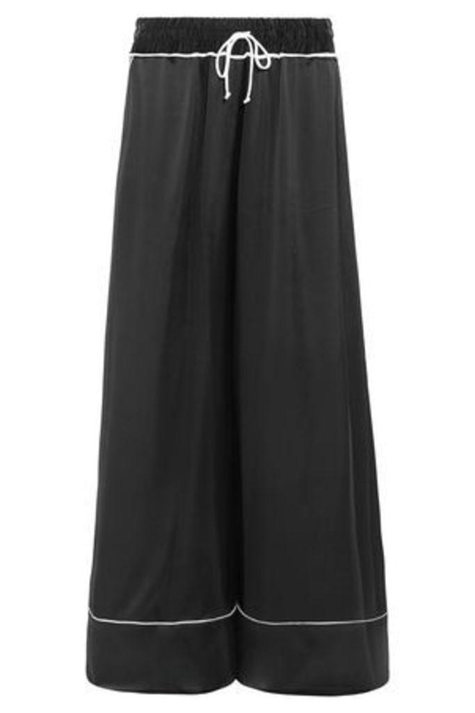 Off-white™ Woman Satin Wide-leg Pants Black Size 36