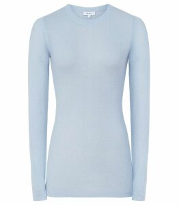 Reiss Connie - Wool Blend Jumper in Pale Blue, Womens, Size XXL
