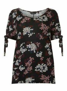 Womens **Dp Curve Black Ditsy Floral T-Shirt- Fl Multi, Fl Multi