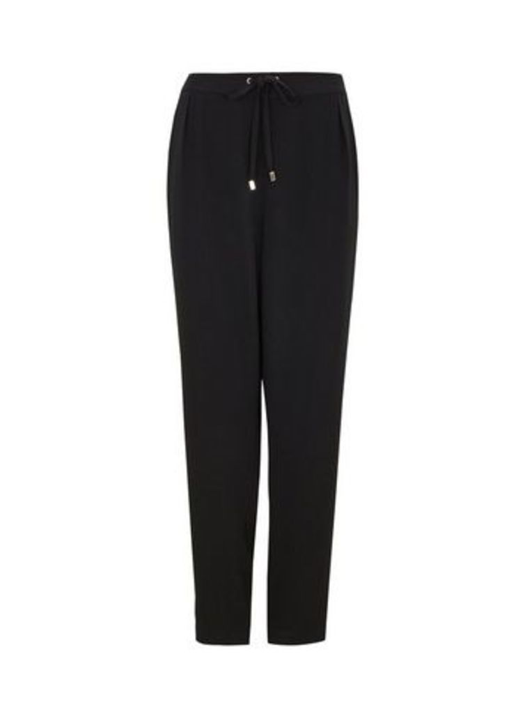 Black Pull-on Trousers, Black