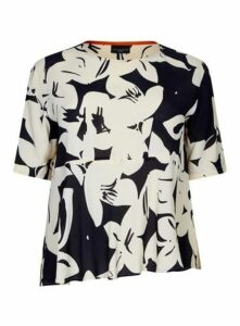 **Live Unlimited Black And White Floral Top, Black/White