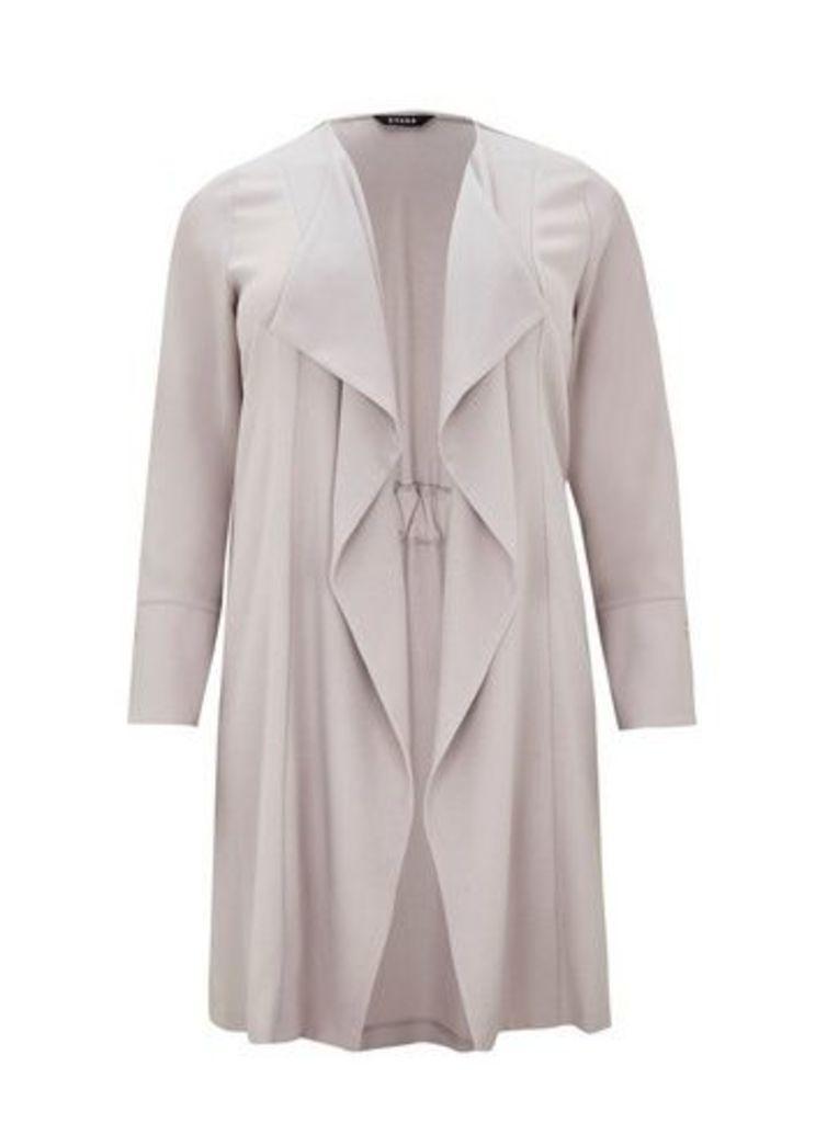 Grey Stud Longline Jacket, Grey
